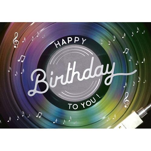 Carte double Happy Birthday