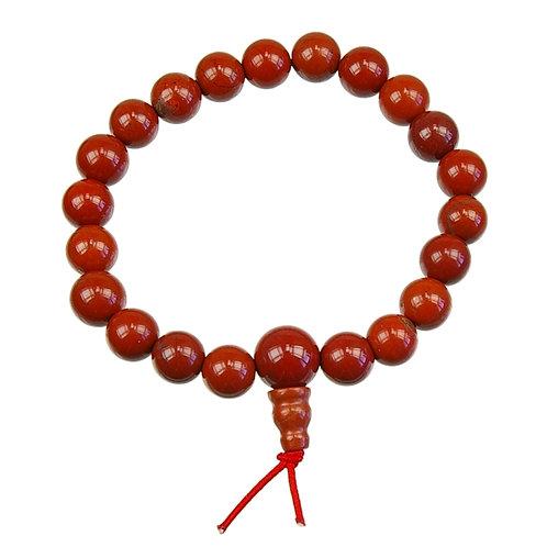 Bracelet Mala tibétain Jaspe rouge