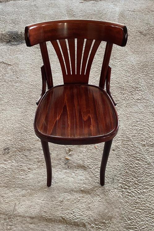 כסא עץ פסים אגוז