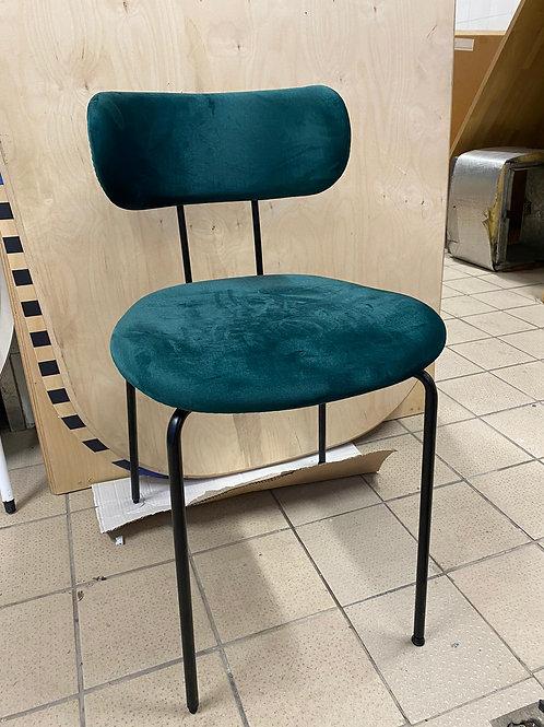 כסא קטיפה ירוק/כחול