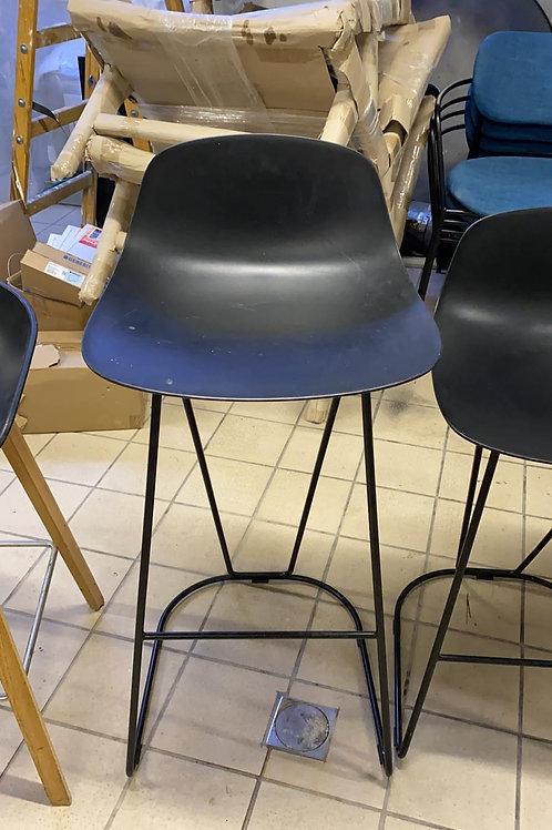 כסא בר שחור רגלי מתכת