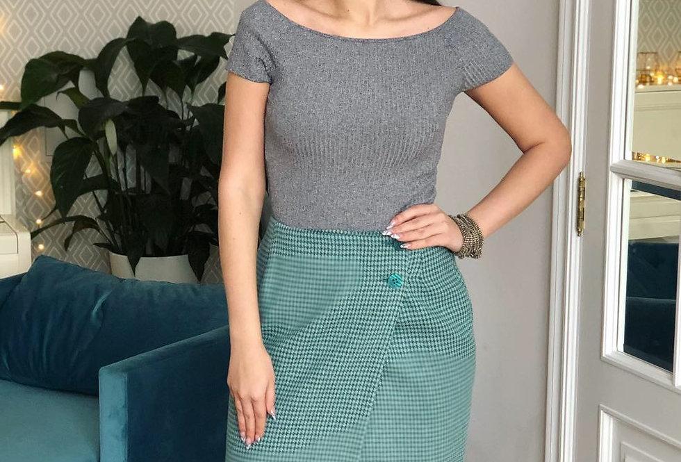 Мини-юбка БАЙС гусиная лапка