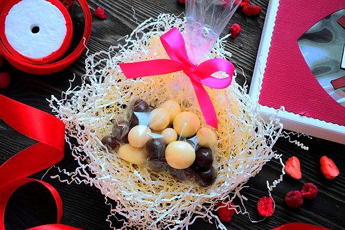 """Драже """"Сублимированная ежевика в йогуртовой и шоколадной глазури"""