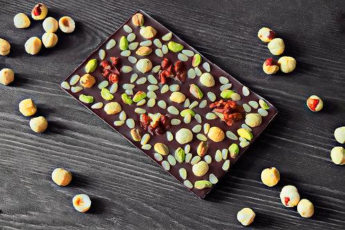 """Плитка """"Лесная"""" из темного колумбийского шоколада. 120 г"""