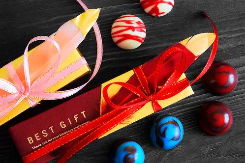 Подарочный набор конфет ручной работы (6 шт)