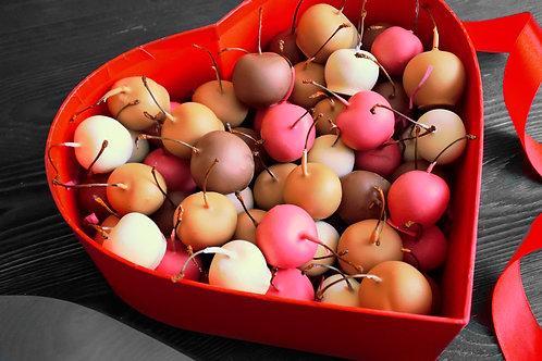 Подарочный набор черешни в бельгийском шоколаде. 54 шт