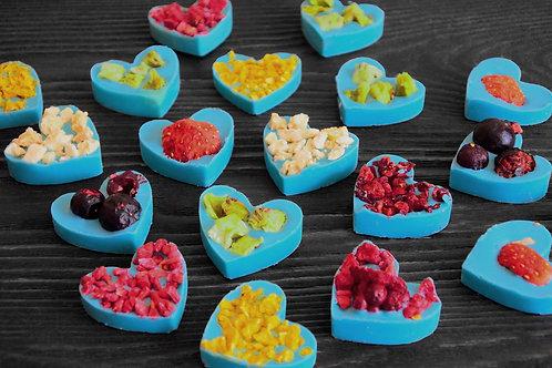 """Мини сердца """"Ассорти"""" из мятного бельгийского шоколада. 10 шт"""
