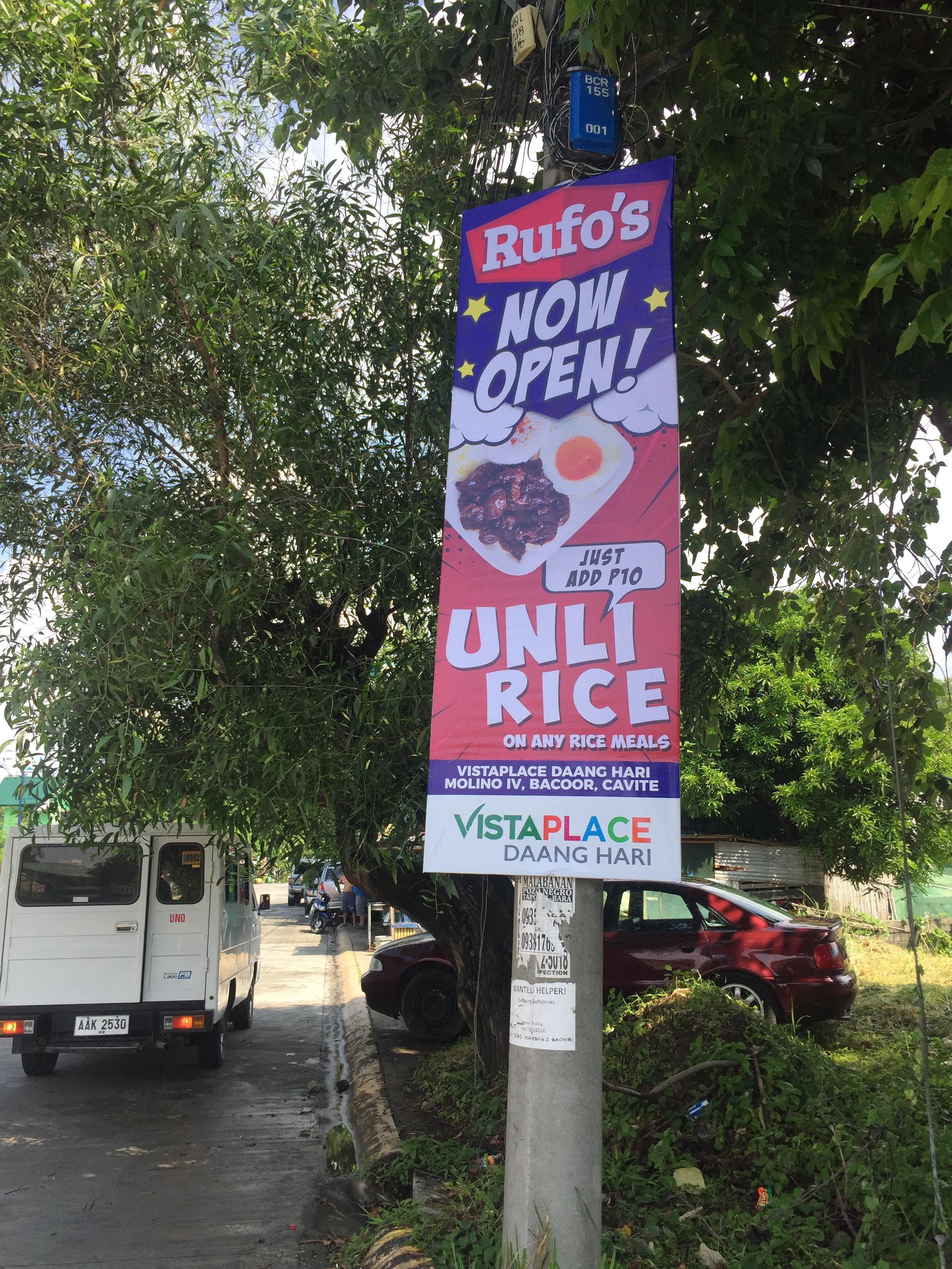 Rufo's in Vista Place Daanghari
