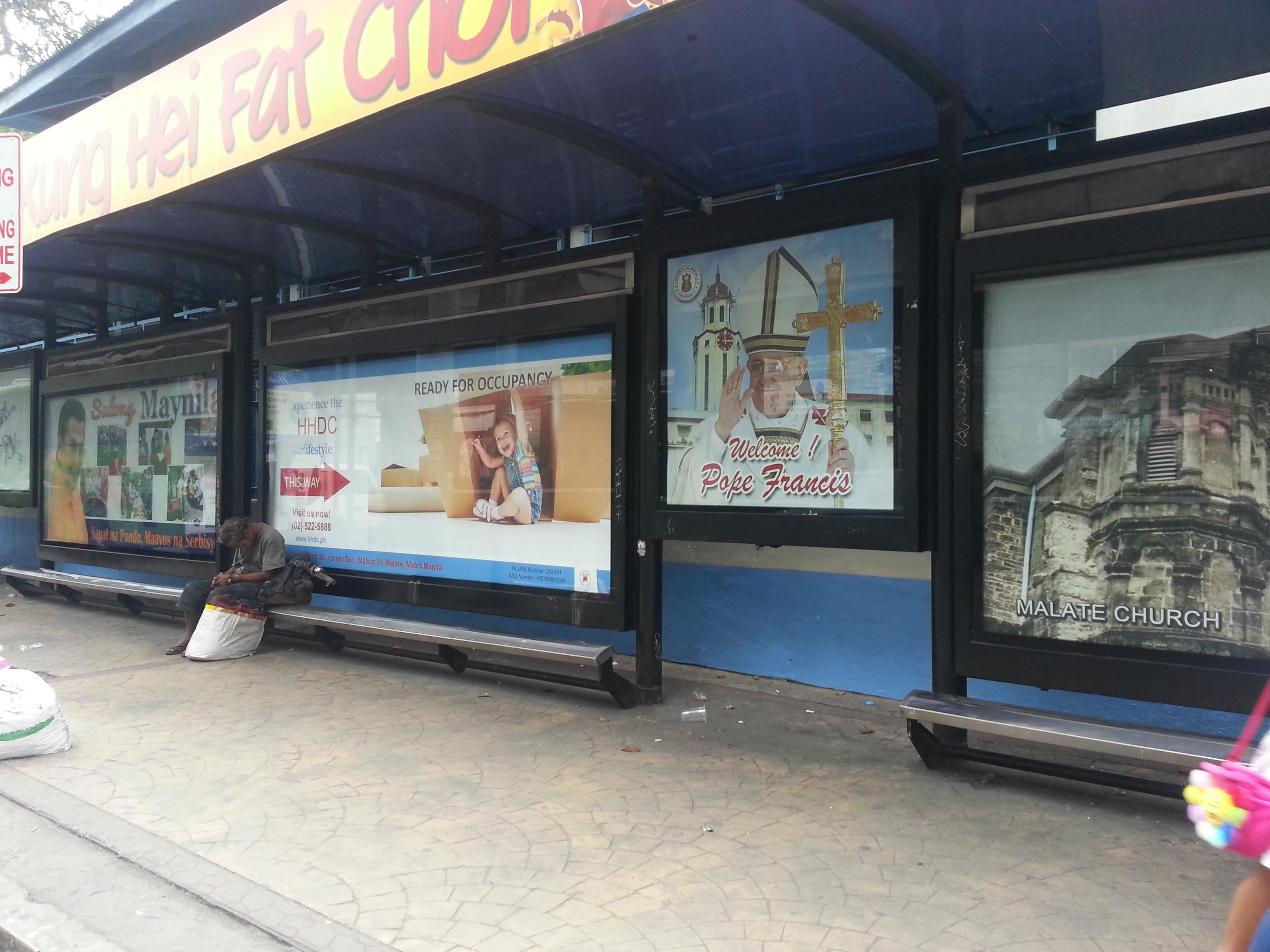 Taft Avenue Waiting Shed Ad