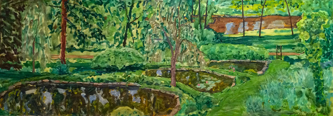 Three Summer Ponds and River