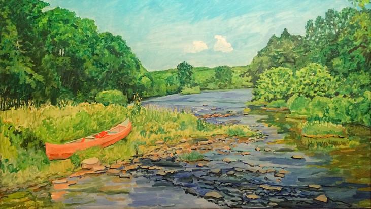 Canoe on the Lackawaxen River