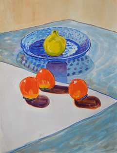 Three Persimmons and Quince
