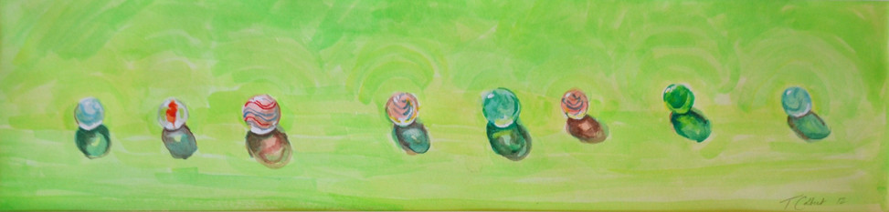 Marbles on Green