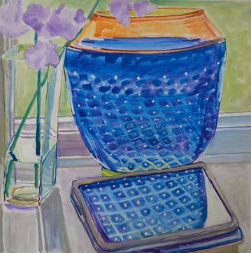 Bowl with Iris and Ipad