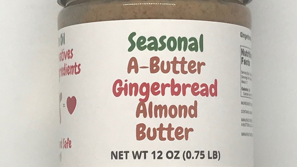 Seasonal Gingerbread Almond Butter