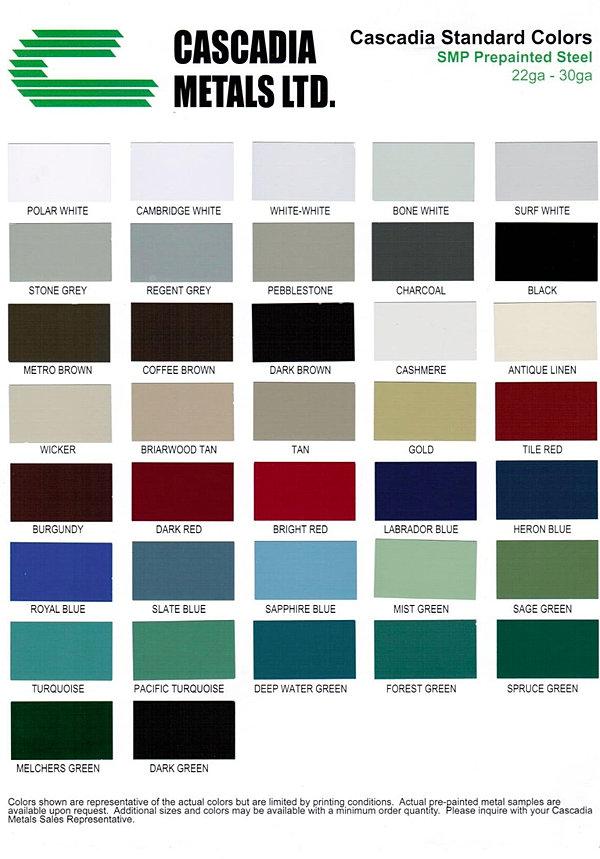 tectum-sheet-metal | COLOUR CHARTS