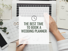 The Best Time to Book a Wedding Planner