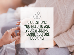 Questions You Should Be Asking Before Booking Your Wedding Planner