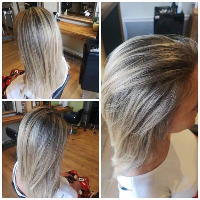 Balayage argiles bentholiques blond - Salon Naturel Coiffure