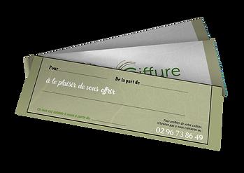 Chèque cadeau - Salon Naturel Coiffure