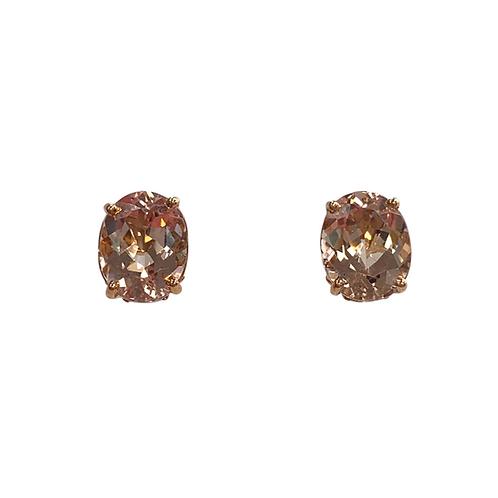 Morganite Earrings (14K)