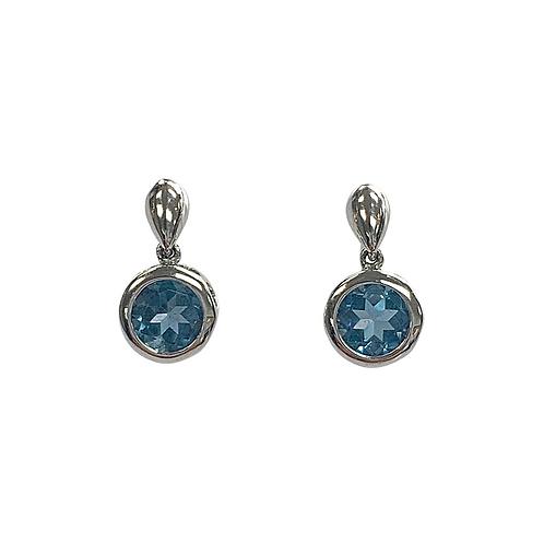 London Blue Topaz Earrings (10K)