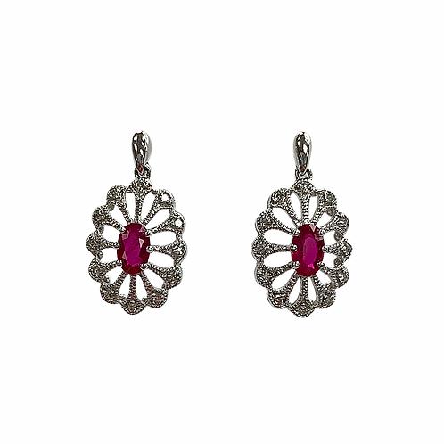 Ruby/Diamond Earrings (10K)