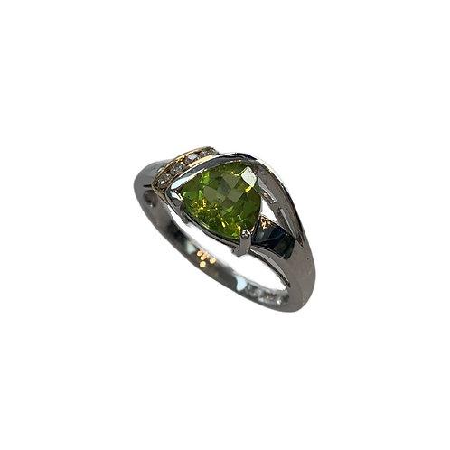 Peridot/Diamond Ring (14K)