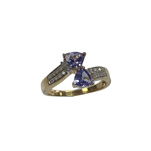 Tanzanite/Diamond Ring (14K)
