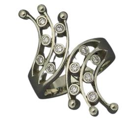 custom diamond and white gold ring