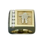 inukshuk corporate ring with diamonds