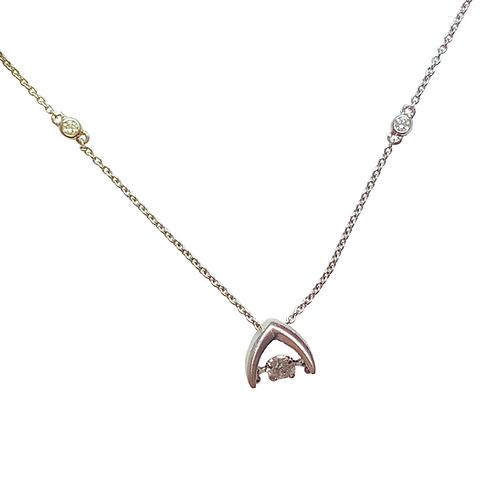 Dancing Diamond Pendant & Chain (14K)