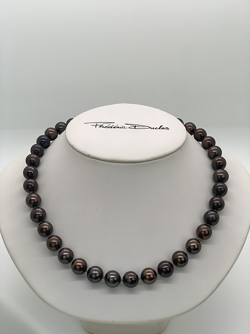 "18"" Dark Pearl Necklace (14K)"