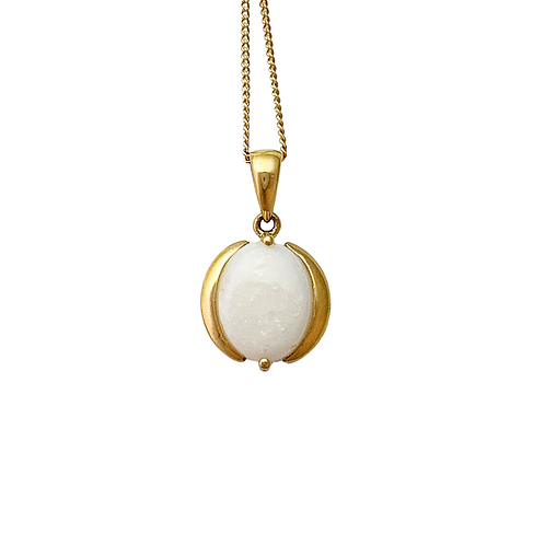 Opal Pendant & Chain (14K)