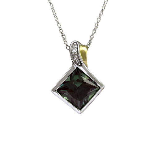 Alexandrite/Diamond Pendant & Chain (10K)