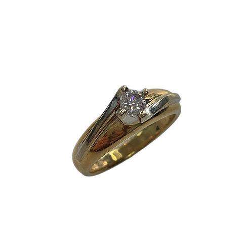 Diamond Solitaire Ring (14K)