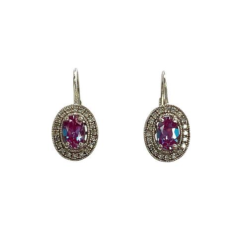 Alexandrite/Diamond Earrings (10K)