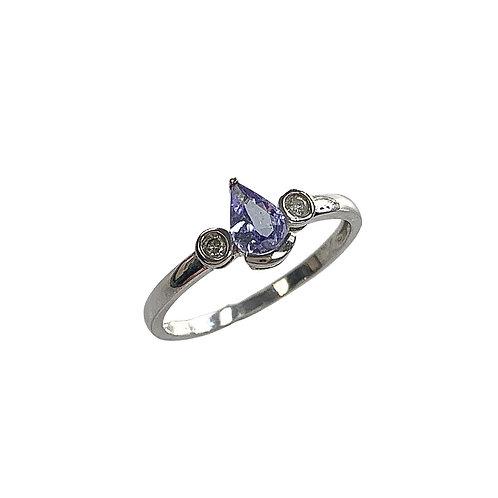 Tanzanite/Diamond Ring (10K)