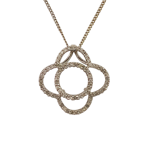 Diamond Pendant & Chain (14K)
