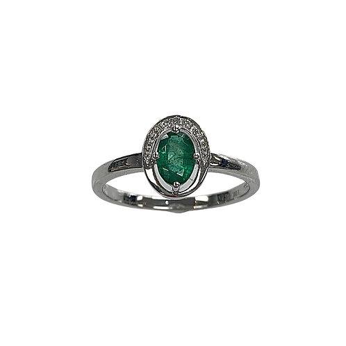Emerald/Diamond Ring (10K)