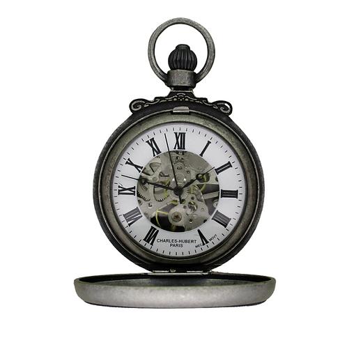 Charles Hubert Skeleton Pocket Watch