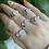 Thumbnail: Crescent Moonstone Ring