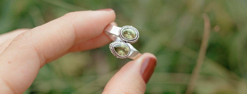 Peridot Duo Ring