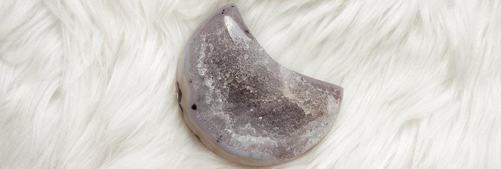 Druzy Agate Moon