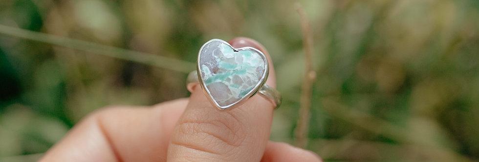 Variscite Heart Ring