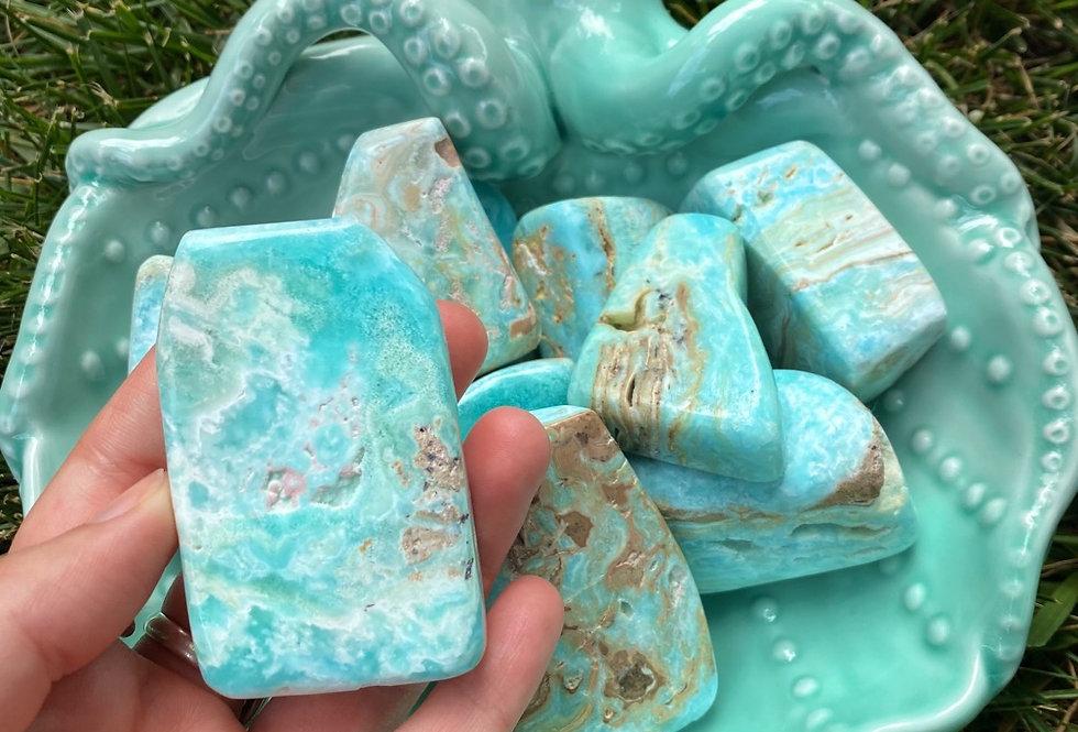 Blue Aragonite Freeform