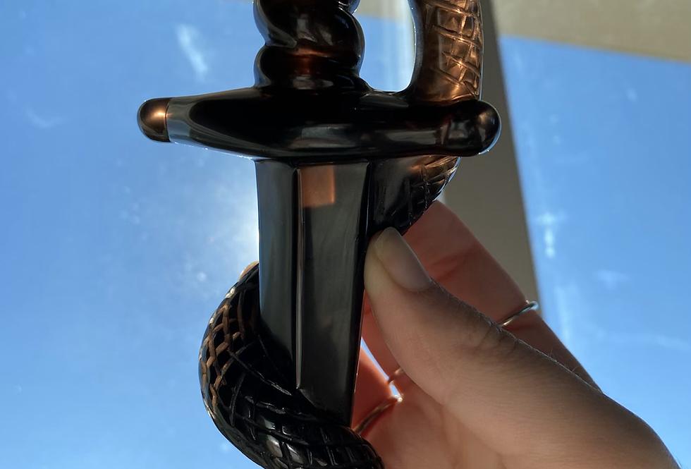 Black Obsidian Snake Dagger #3