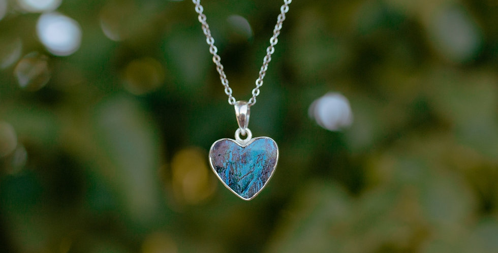 Shattuckite Heart Necklace