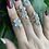 Thumbnail: Moonstone Leaf Ring
