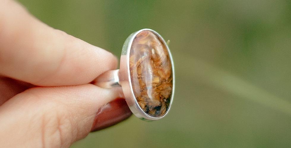 Pietersite ring